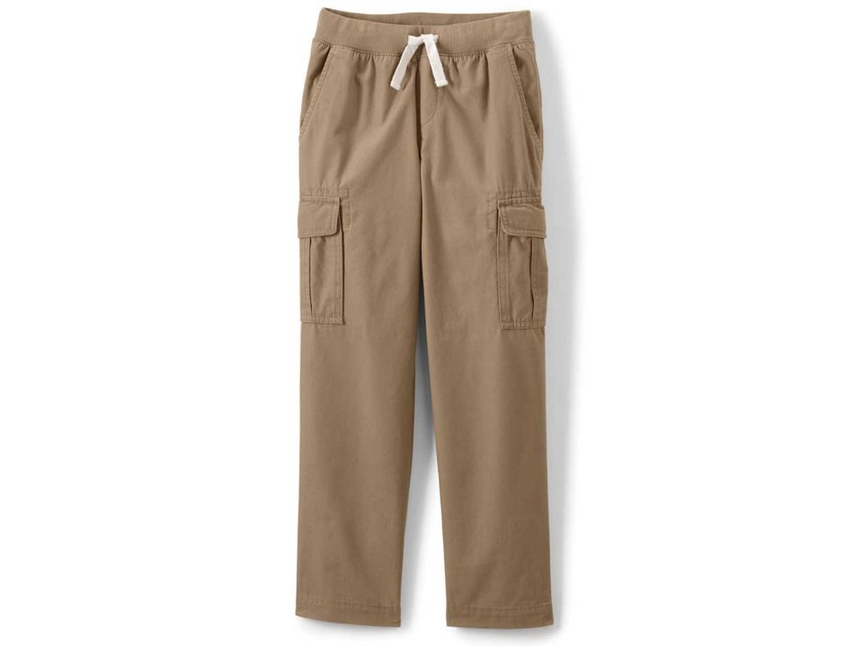 land's end boys iron knee cargo pants