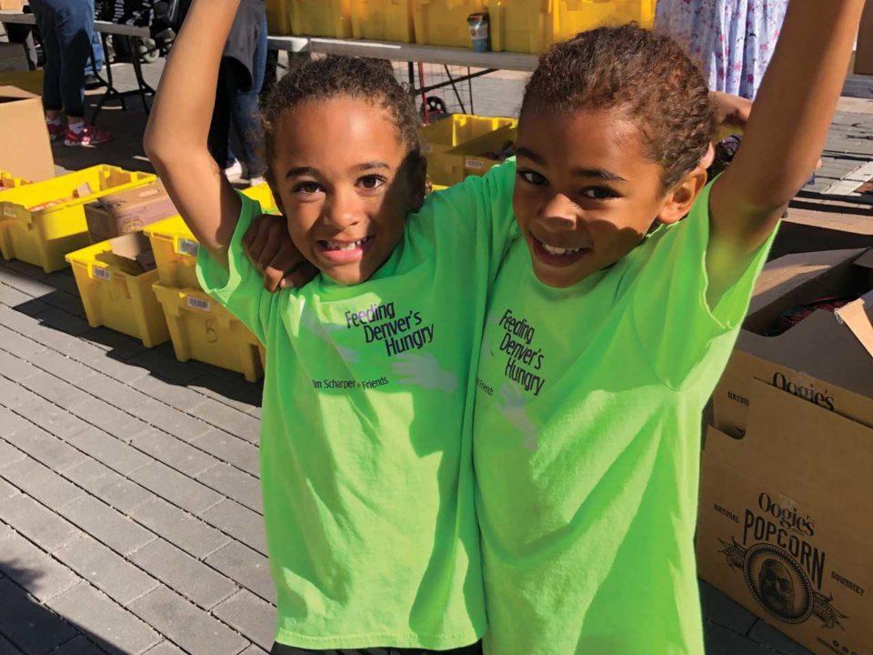 Lucas Logan Turner Kids Making a Difference volunteering Denver