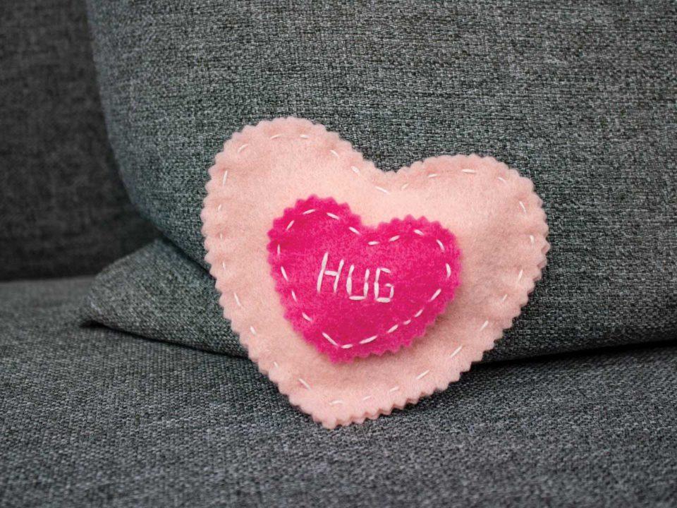 Heart mini pillow felt craft