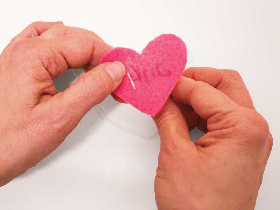 felt conversation heart craft Valentines
