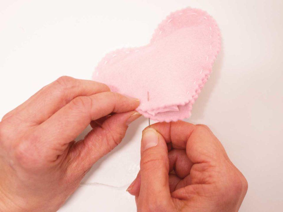 conversation heart felt craft Valentines