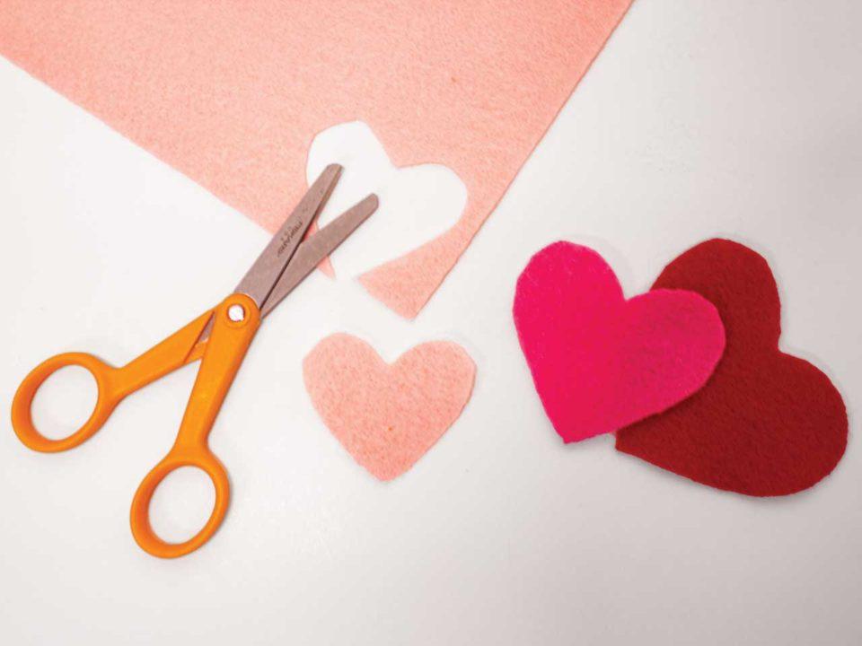 layered hearts kids crafts valentines