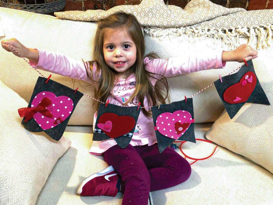 Felt Banner valentines crafts kids