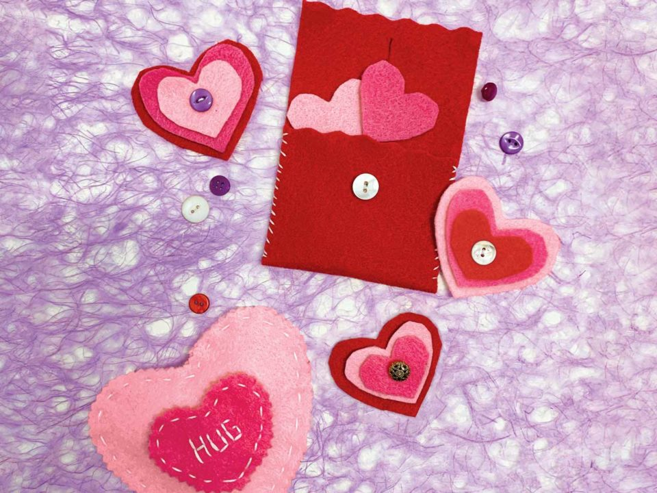 felt crafts valentines