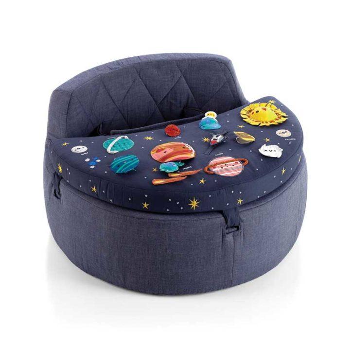 Crate & Barrel kids chair Classic blue