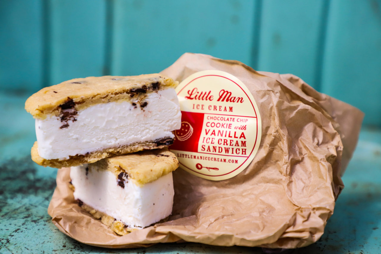 Little Man Chocolate Chip Cookie Ice Cream Sammie