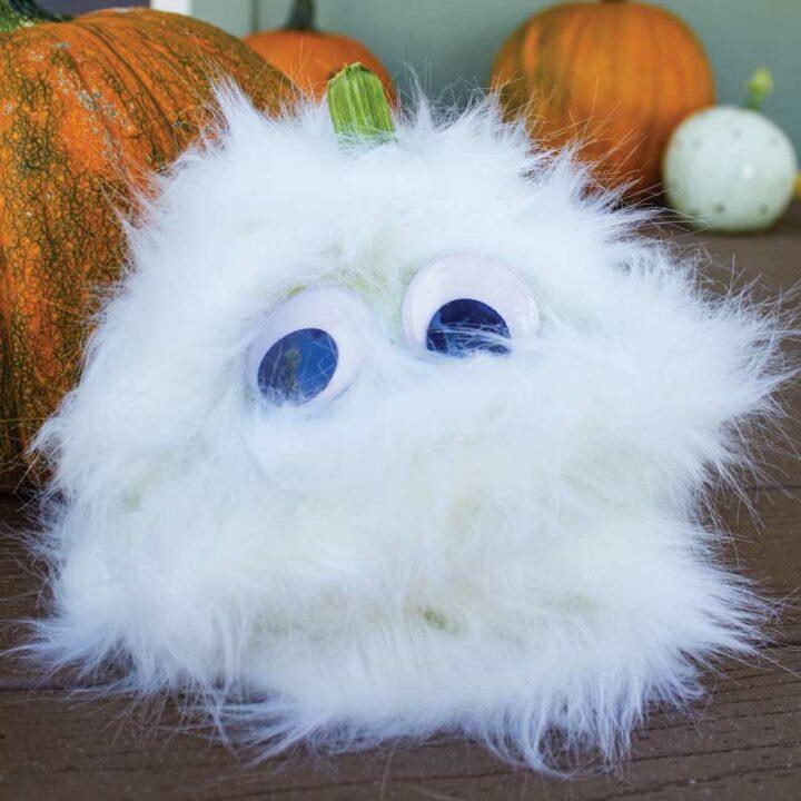 Halloween fuzzy pumpkin